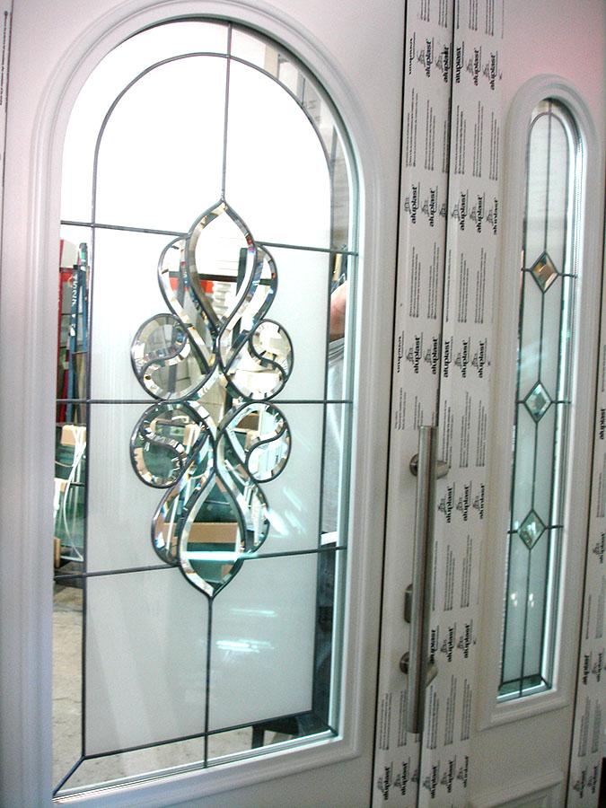 Cudowna Drzwi zewnętrzne z witrażem | Mirox Okna Drzwi PCV Poznań EL15