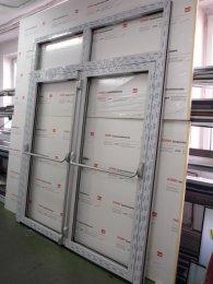 Drzwi aluminiowe dwuskrzydłowe - antypaniczne - producent MIROX Poznań