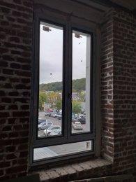 okna MIROX, okna niemcy, polskie okna i drzwi, drzwi alu antypaniczne w kolorze RAL 9006/AP30