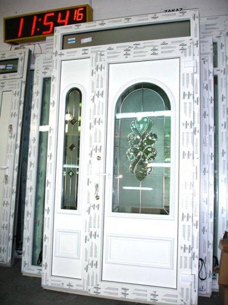 Modish Drzwi zewnętrzne z witrażem | Mirox Okna Drzwi PCV Poznań HJ22