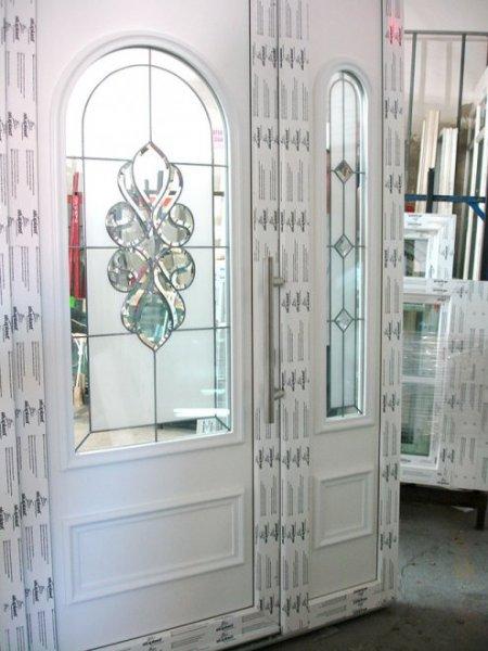 Zupełnie nowe Drzwi zewnętrzne z witrażem | Mirox Okna Drzwi PCV Poznań KT32