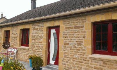 Okna i drzwi w kolorze Dunkelrot