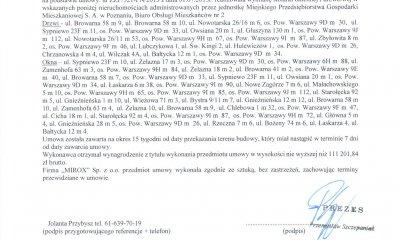 MIROX opinia - zaświadczenie od MPGM w Poznaniu