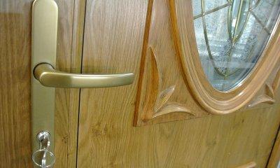 Drzwi zewnętrzne PVC obustronny winchester