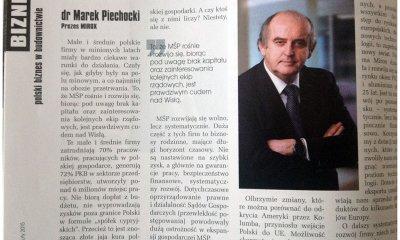 Cud nad Wisłą - wywiad z prezesem Markiem Piechockim