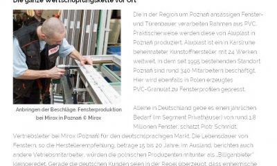 MIROX producent okien PVC na rynek niemiecki