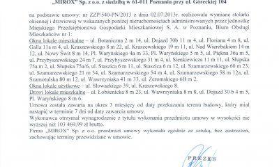 MIROX opinie - referencje od MPGM  w Poznaniu