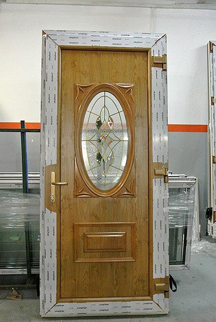 Dodatkowe Drzwi zewnętrzne PVC obustronny winchester | Mirox Okna Drzwi PCV HM46